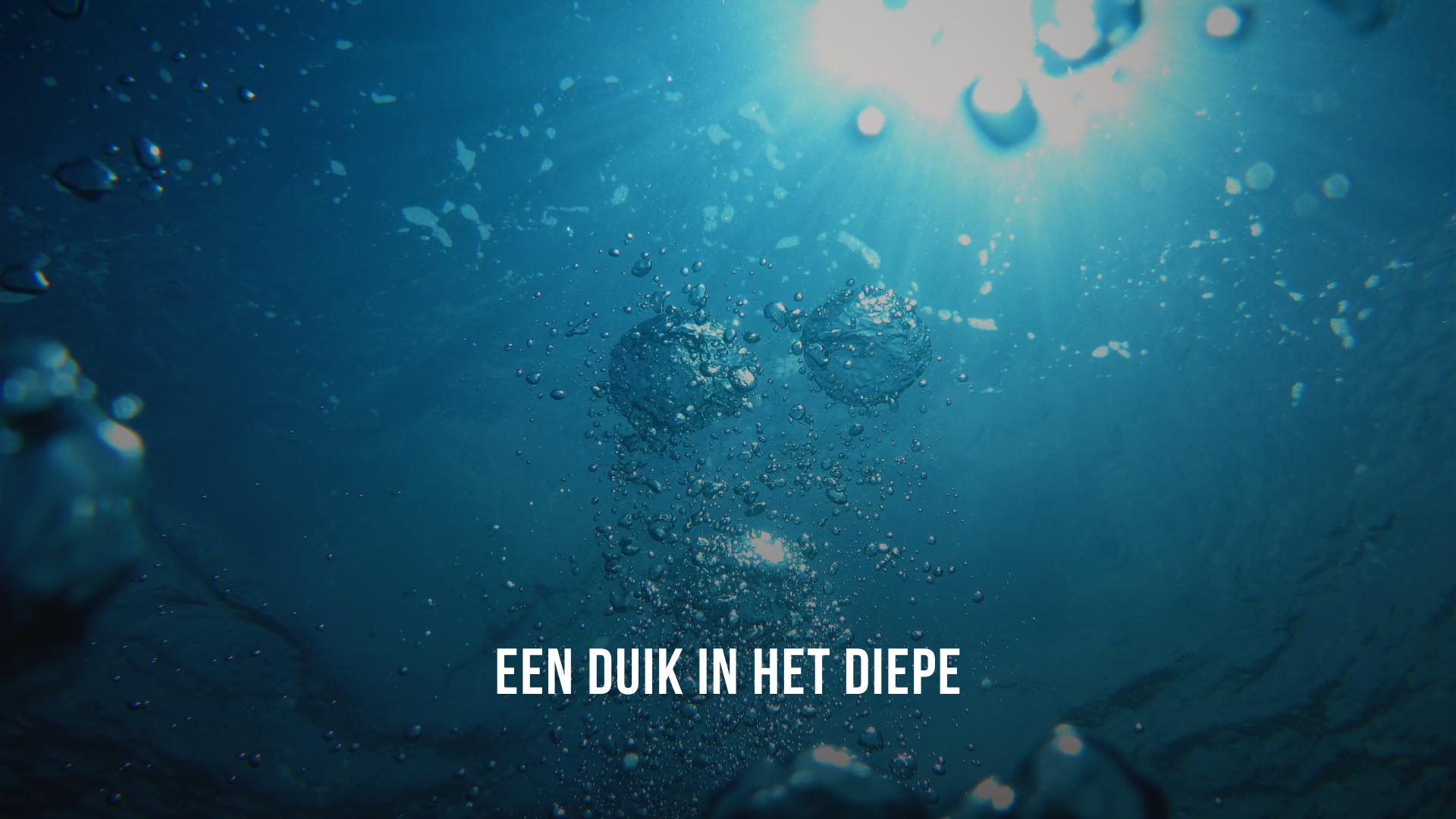 Een duik in het diepe