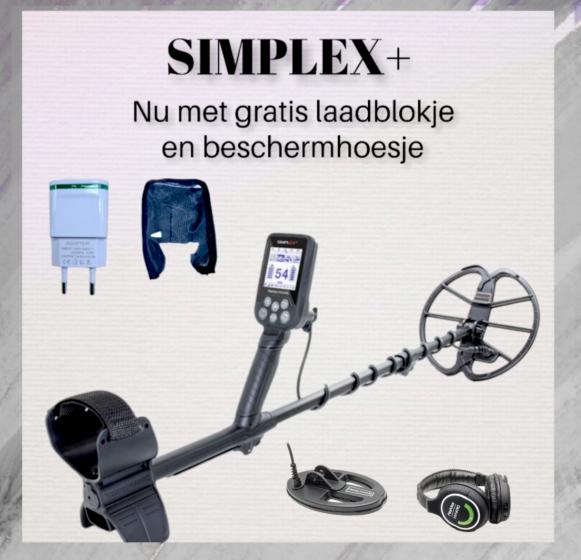 Nokta Makro Simplex + WHP met gratis SP24 zoekschijf, laadblokje en beschermhoesje